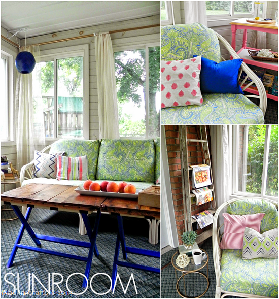 DIY Sunroom Makeover - Mad in Crafts