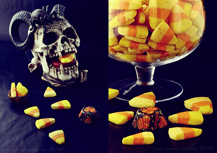 candy corn cookies collage 2