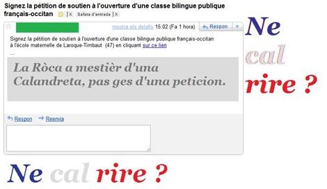peticion per l'escòla bilingüa