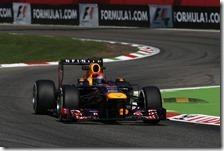 Vettel vince il gran premio d'Italia 2013