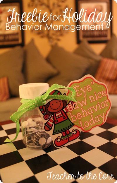 Freebie for behavior management around Christmas