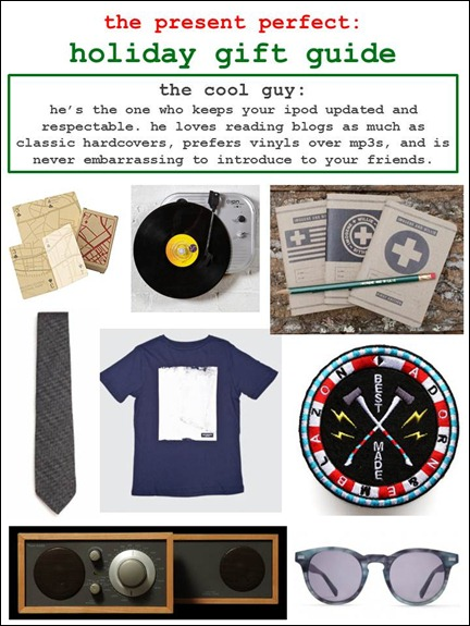 2011.11.30 - Holiday Gift Guide - The Cool Guy