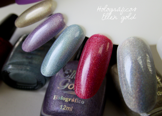 Ellen Gold Holográficos Swatches