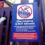 line jumping is NOT allowed at Canada's Wonderland in Vaughan, Ontario, Canada