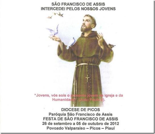 FESTEJOS DE SÃO FRANCISCO DE ASSIS DA COMUNIDADE VALPARAISO