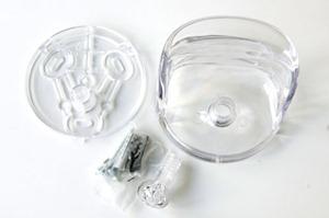 Olaf von Bohr 4702 hook for Kartell, crystal reissue