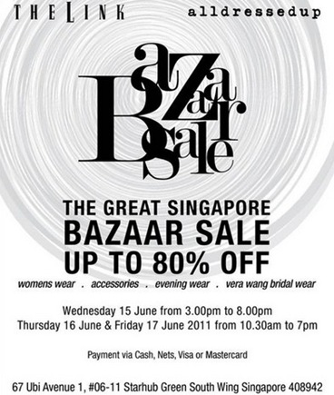 alldressed up, The Link bazaar sale