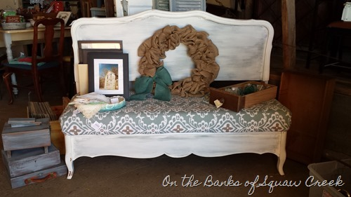 upholstered headboard DIY bench