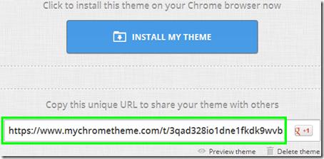 My Chrome Theme installare e condividere tema Chrome personalizzato