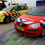 the ambulance & fire service in Scheveningen, Zuid Holland, Netherlands