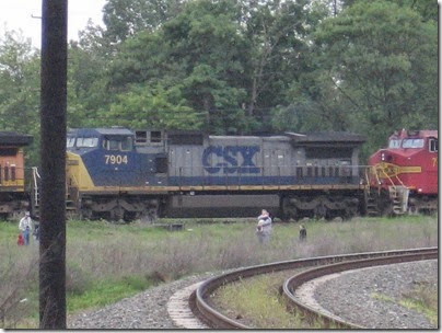 IMG_6312 CSX C40-8W #7904 at Peninsula Jct May 12, 2007
