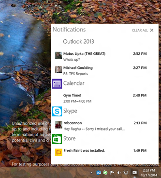 Windows 10 Brings App Notification Center To Desktop
