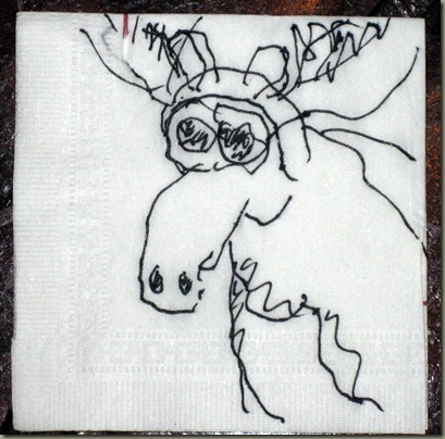 Moose Puppet Sketch 2