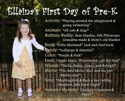 Ellaina's 1st day of school