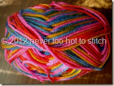 2012 Needles 8ply pink red blue yellow