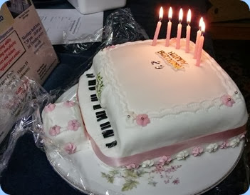 The Birthday cake for Kuniko. Photo courtesy of Dennis Lyons.