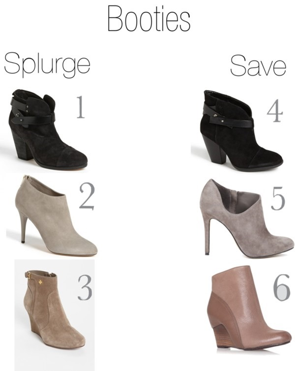 fall booties save vs. splurge