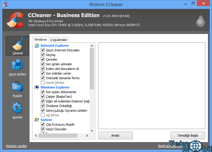 CCleaner Business Edition v4.05.4250 Türkçe Full