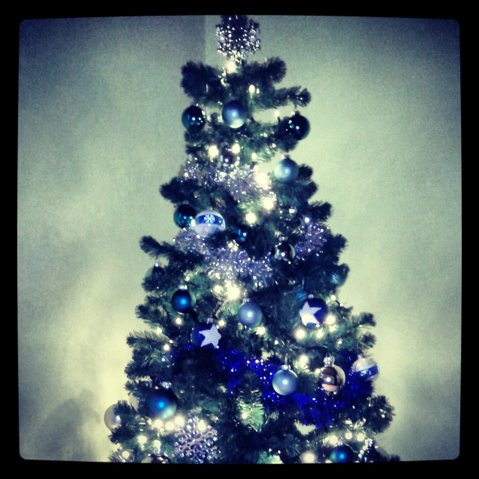 Addobbi blu per albero di natale