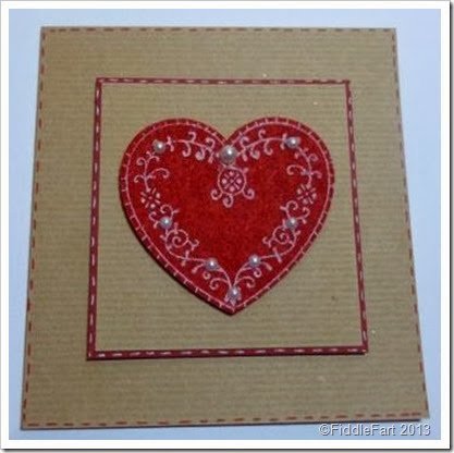 Nordic heart Card