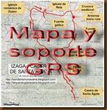 Mapa y soporte GPS -Dolmenes de Ithé