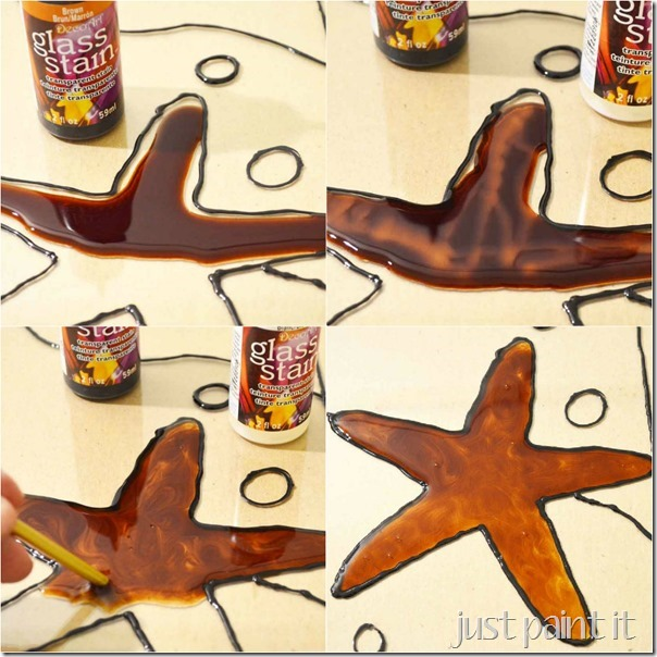 painted glass starfish