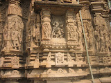Apart from repetitive Shiva images, here the central niche shows Shiva in a new posture. We will see it in details in coming pictures.
