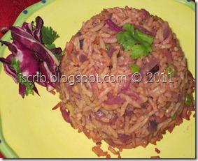 Purple Cabbage Pulav
