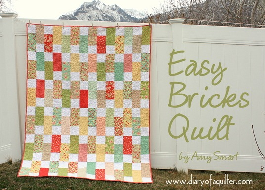 easy bricks quilt tutorial