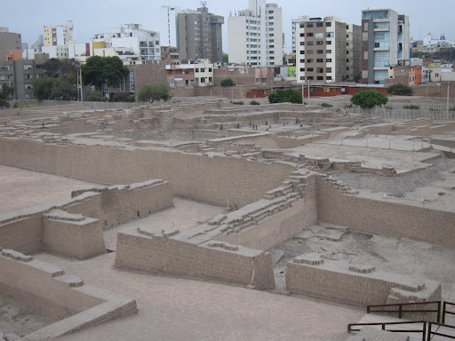 Huaca Pucllana ruins in Lima, built around 200-700 AD