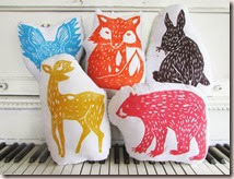 5 Small Animal Pillows