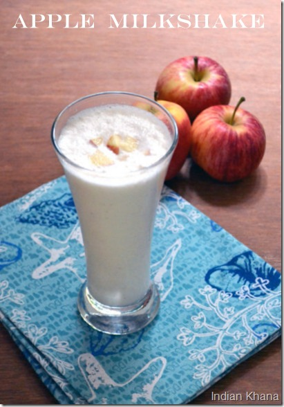 Easy quick apple milkshake recipe for fasting upwas vrat