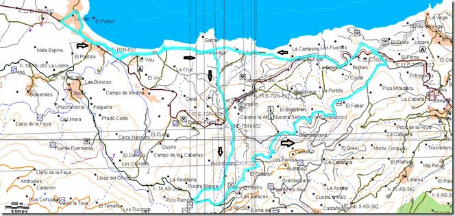 Mapa Ruta La Isla-Berbes