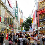 myeong-dong shopping district in Seoul, Seoul Special City, South Korea