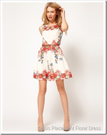 Oasis Placement Floral Dress