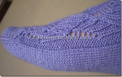 2011 Purple Cocoon Ribbed Ribbon socks side detail