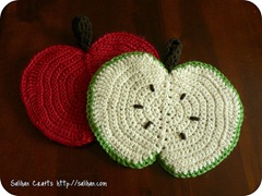 Crochet apple pattern on blog