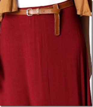 Belted Jersey Maxi Skirt2