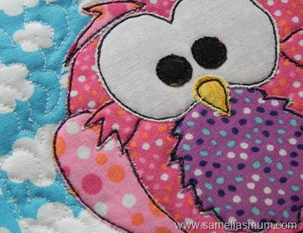 Pink Owl Mug Rug 3