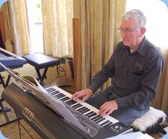 Club President, Gordon Sutherland, playing his Korg Pa3X. Photo courtesy of Peter Littlejohn.