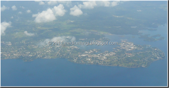 Arial view of Madang Town