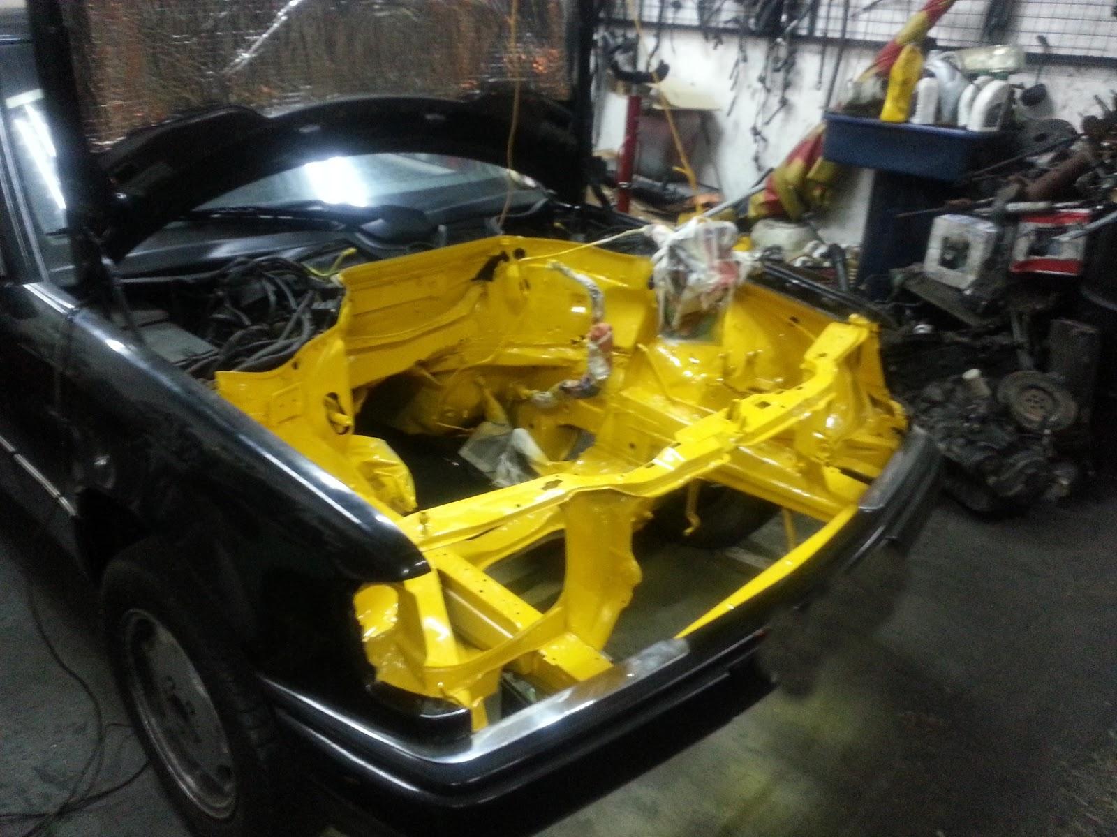 1jz Gte Vvti W124 Yellow Painted Engine Bay