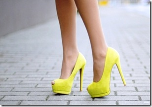 YELLOW platform heels via the simply luxurious life