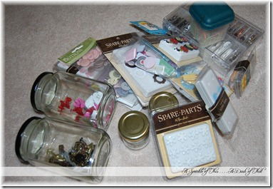 Scrapbook Embellishment Storage Before {A Sprinkle of This. . . . A Dash of That}