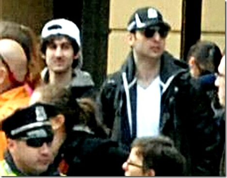 Dzhokhar and Tamerlan Tsarnaev vid capture