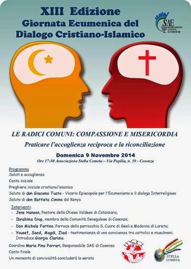 Locandina Incontro Islamico-Cristiano