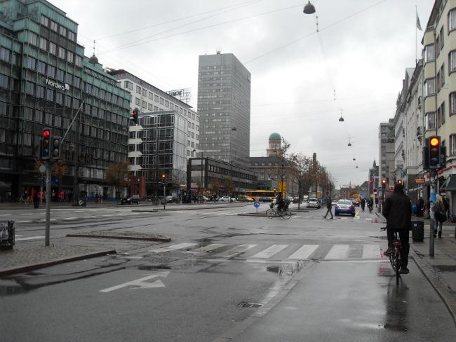 Vesterbrogade en regnfuld dag i oktober 2012