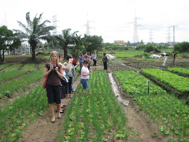 'Visiting an Urban Farm outside of Accra.' Photo by Sandra Vu