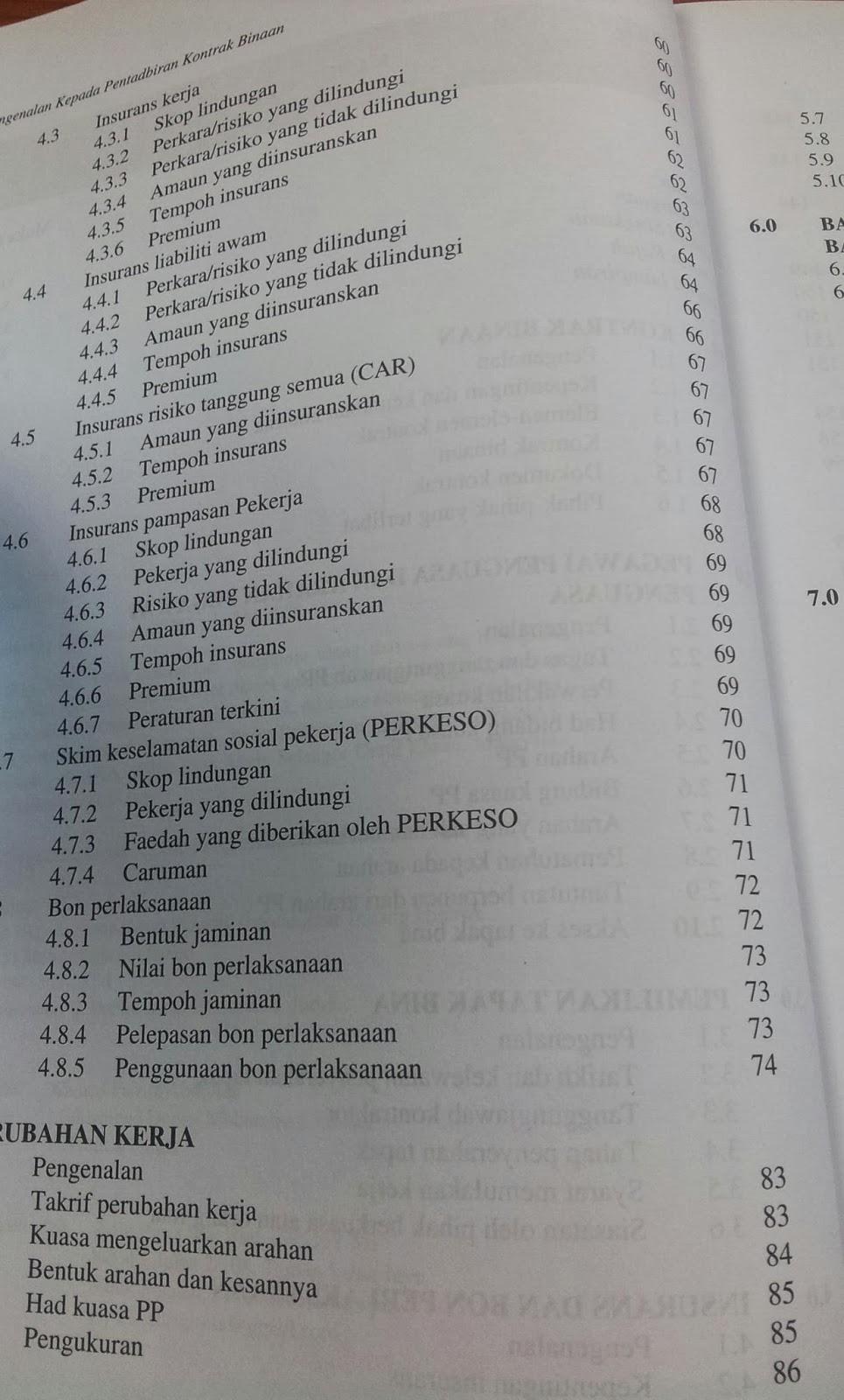 Pengenalan Kepada Pentadbiran Kontrak Berdasarkan Borang Kontrak Jkr 203 A Buku Teknikal