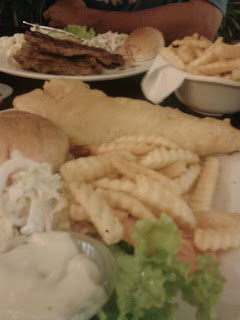My fish and chip! Yummmzzz!